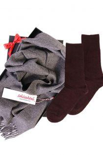 Alpakavillast salli ja DOORA sokkidega kinkekarp naistele | Sokisahtel