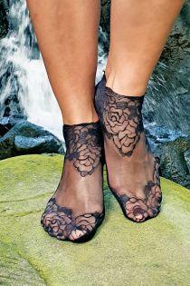 TERESA black lace socks for women | Sokisahtel