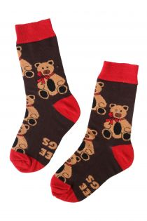 FREE HUGS kids socks with bear pattern | Sokisahtel