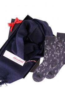Alpakavillast salli ja SEASIDE sokkidega kinkekarp naistele | Sokisahtel