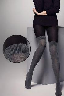 Женские колготки с эффектом гольф выше колен SARA 80DEN | Sokisahtel