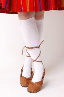 KRISS white cotton knee highs | Sokisahtel