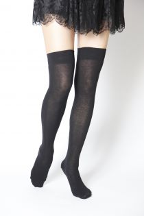 Гольфы выше колена JESSI чёрного цвета | Sokisahtel