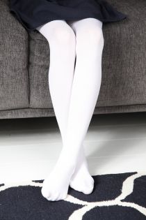 MEERI 40DEN valged mikrofiiber sukkpüksid lastele | Sokisahtel