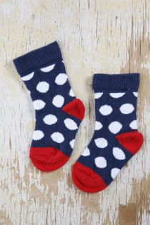 ANTI socks for babies with polka-dot pattern   Sokisahtel