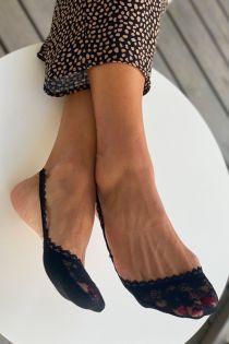 AIDA black lace toe socks for women | Sokisahtel