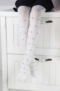 AMATA valged tüdrukute puuvillased sukkpüksid | Sokisahtel