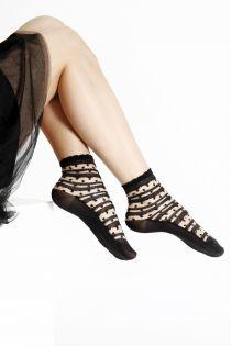 ANTONINA sheer black socks for women | Sokisahtel