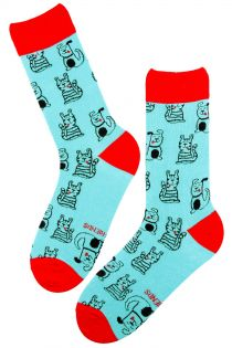 BEST BUDDY light blue cotton socks | Sokisahtel