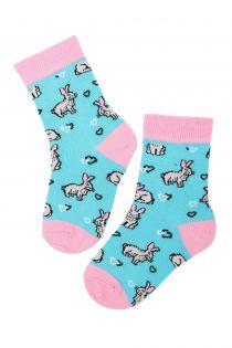 BUNNYLOVE cotton Easter socks for kids | Sokisahtel