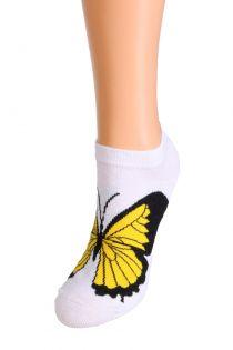 BUTTERFLY low cut cotton socks | Sokisahtel