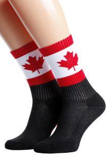 Хлопковые носки для женщин и мужчин с канадским флагом CANADA | Sokisahtel