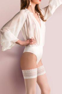 CAROLINE 20DEN white hold-ups | Sokisahtel