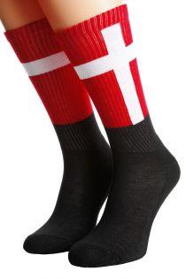 Хлопковые носки для женщин и мужчин с датским флагом DENMARK   Sokisahtel