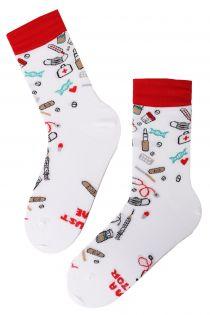 DOCTOR white cotton socks | Sokisahtel