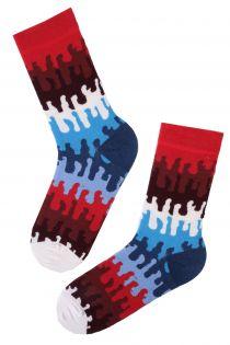 Женски хлопковые носки с абстрактным узором DROPS   Sokisahtel
