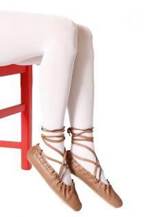 Женские колготки белого цвета для народного костюма ECOCARE 3D 40DEN recycled | Sokisahtel