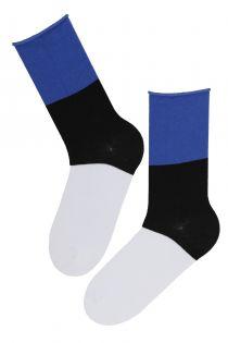EESTI cotton socks in the colours of the Estonian flag | Sokisahtel