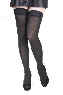 Женские чулки темно-серого цвета с содержанием шелка ELENA | Sokisahtel