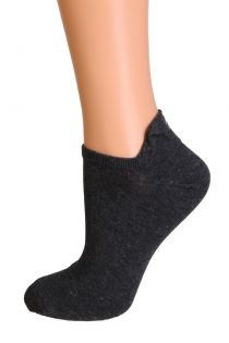 FACE black low cut cotton smiley socks | Sokisahtel