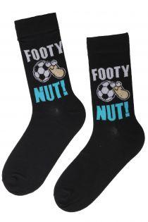 Мужские носки черного цвета со смешным текстом FOOTY | Sokisahtel