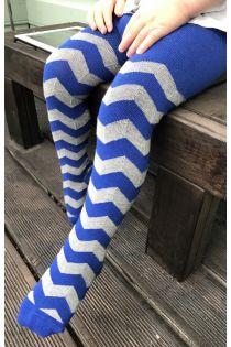 MATHEW blue cotton tights for children   Sokisahtel