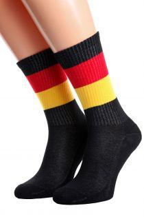 Хлопковые носки для женщин и мужчин с немецким флагом GERMANY | Sokisahtel