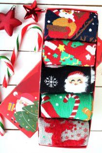 SWEET HOME jõulu kinkekarp viie sokipaariga naistele | Sokisahtel