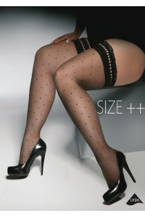 Женские чулки GWENN Size++ 20DEN, чёрный цвет   Sokisahtel