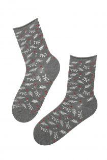 WONDERLAND grey angora socks for women | Sokisahtel