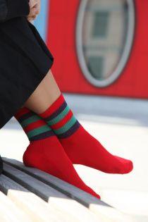 HIROKO punased säravad sokid naistele | Sokisahtel