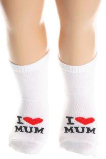 I LOVE MUM cotton socks for babies | Sokisahtel