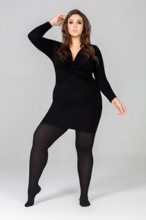 Женские элегантные колготки черного цвета QUEEN PLUS 50DEN | Sokisahtel