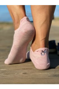 FACE pink low-cut cotton socks | Sokisahtel