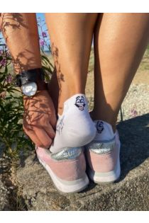 FACE white low-cut cotton socks | Sokisahtel