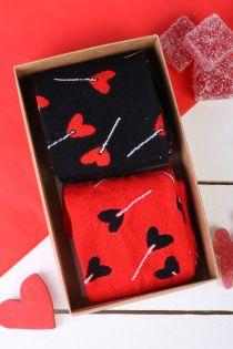 Подарочный набор из 2 пар ярких и запоминающихся носков для мужчин и женщин CANDY   Sokisahtel