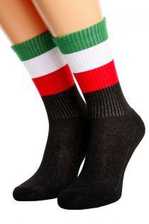 Хлопковые носки для женщин и мужчин с итальянским флагом ITALY | Sokisahtel