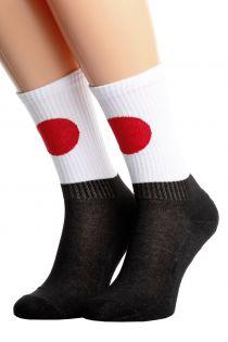 Хлопковые носки для женщин и мужчин с японским флагом JAPAN | Sokisahtel