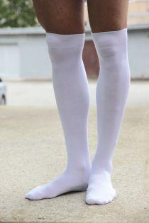 JESSI white over the knee highs | Sokisahtel