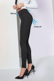 JUSTINE 400DEN musta värvi viskoosist push up retuusid | Sokisahtel