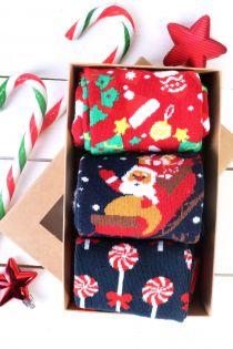 GIFT jõulu kinkekarp kolme sokipaariga | Sokisahtel