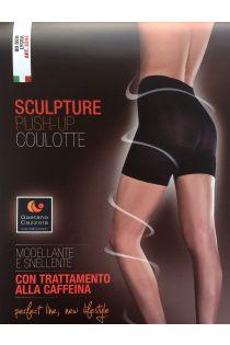 Gaetano Cazzola SILVIA 80DEN beežid push-up lühikesed püksid | Sokisahtel