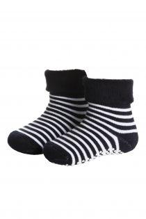 MADIS dark blue cotton baby socks   Sokisahtel
