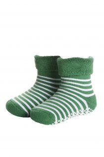 MADIS green cotton baby socks   Sokisahtel