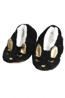 LISSANDRA black slippers for kids | Sokisahtel