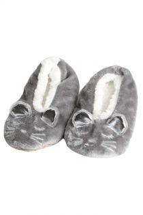 LISSANDRA grey slippers for kids | Sokisahtel