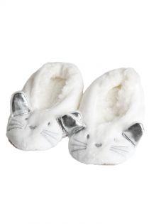 LISSANDRA white slippers for kids | Sokisahtel