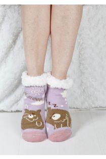 SLEEPING BEAR children's warm home socks | Sokisahtel