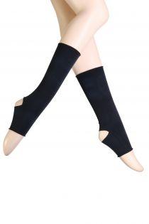 Женские длинные носки черного цвета для танцев LUCINDA | Sokisahtel