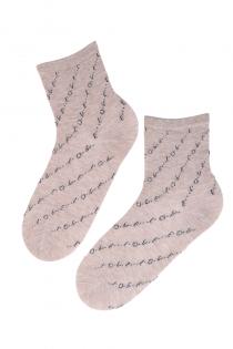 LUULE beežid puuvillased särava kirjaga sokid | Sokisahtel
